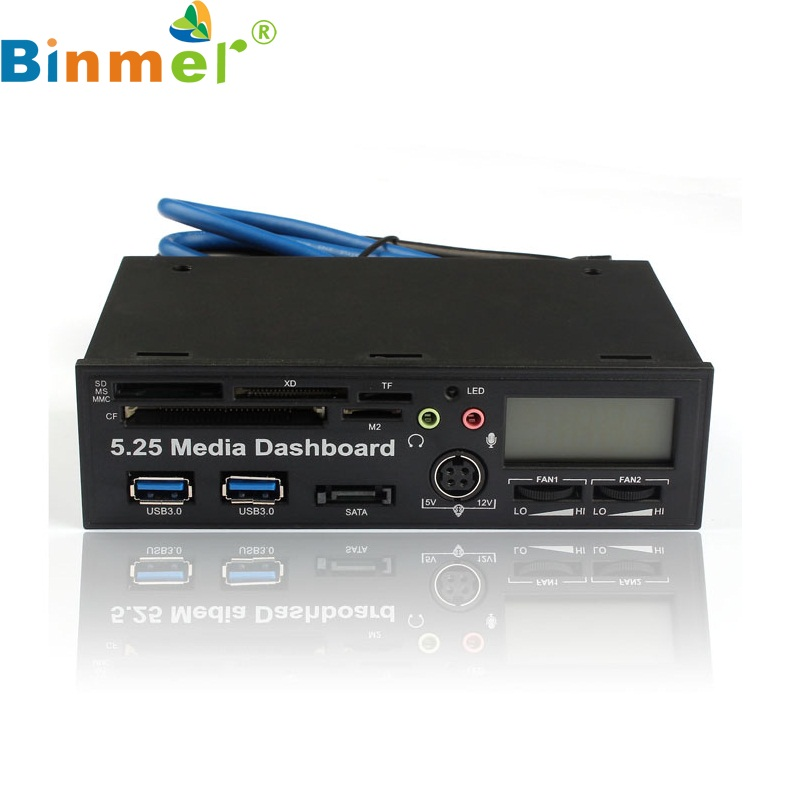 5.25 Inch USB 3.0 High Speed Media Dashboard Front Panel PC Multi Card Reader Wholesale price Dec18(China)