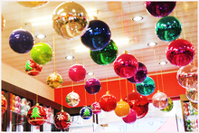 large 10/20/30cm Multi-Color Christmas Balls  Ornaments Xmas Tree Decoration hotel market home decor navidad