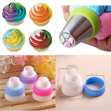 Big size Icing Piping Bag Nozzle Converter Cream Coupler Cake Decorating Tools For Cupcake Fondant Cookie Russian Nozzle Tips