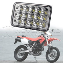 "4""x6"" 45W Motorcycle LED Conversion Headlight Lamp For Honda XR250 XR400 Suzuki DRZ UTV D20"