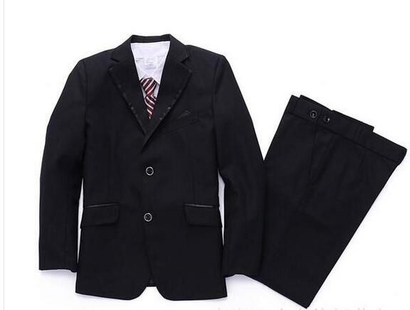 High-quality classic formal dress kids blazers jackets boys wedding suit children outerwear clothing Tuxedo Suits boy Trail Blaz(China)