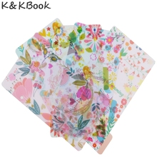 K&KBOOK 2017 new arrival cute PP separator pages/index paper for spiral notebooks, candy flower pattern planner dividers A5 A6