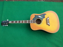2016 New + Factory + Orange Burst Chibson Dove acoustic guitar Orange GB dove electric acoustic guitar Dove guitar Free Shipping
