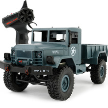 Remote Toys Climbing Car Model 1:16 Military Truck Electric Four-wheel Drive Off-road Blue Present Gift For Boy(China)