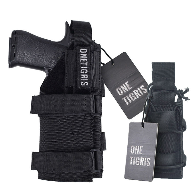 OneTigris Tactical Gun Holster Molle Modular Belt Pistol Holster &amp; Single Pistol Mag Pouch for Glock 17 19 22 23 31 32 34 35<br><br>Aliexpress