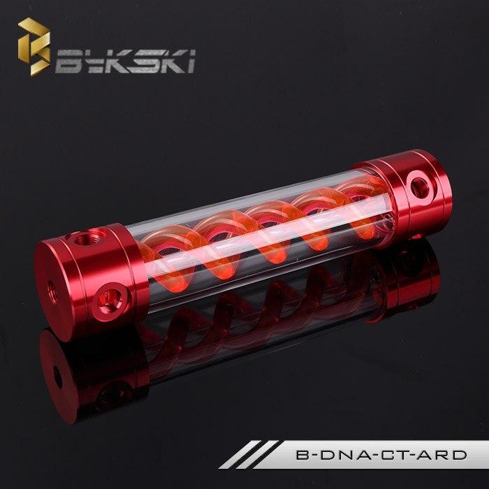 Bykski B-DNA-CT-ARD T-Virus Transparent Reservoir Tank 180/260mm Red Metal Cap<br>