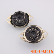 Buy 9pin B9A Bakelite Tube Socket Valve Base 12AX7,6DJ8,12BH7,EL84,EC82,B329,6L1 CV492 Vintage Amplifier DIY,Chassis Mount for $10.50 in AliExpress store