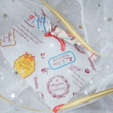new 9*12.5cm 100pcs fun label print design Wax Paper Christmas Candy Chocolate Taffy Wrap For Party Gift Decoration