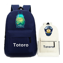 Tonari no Totoro Cos Women Backpack Anime Schoolbags Canvas Printing Backpack Funny Totoro Kawaii Mochila Feminina Rucksacks