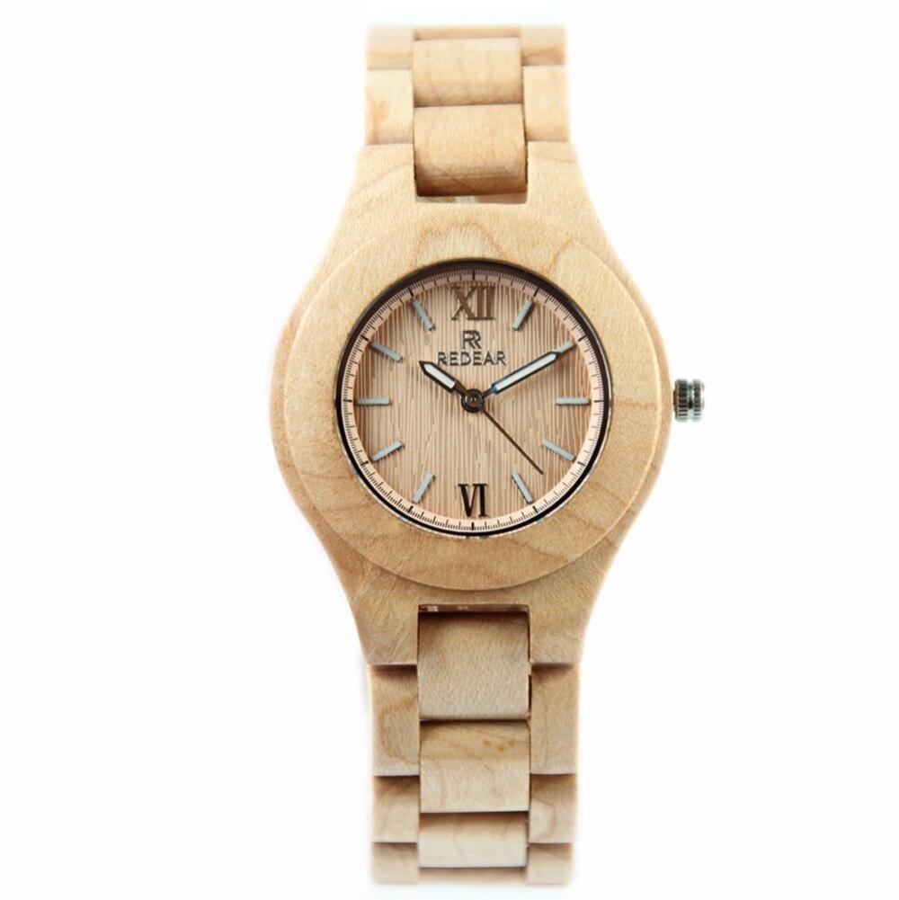 Fashion Womens Watch Natural Maple Wood Watch Casual Wrist Watch Quartz Clock <br>