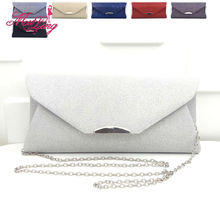 Cheap price casual simple solid day clutches women designer evening party handbag bridal wedding wallet clutches shoulder bag