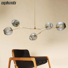 Lindsey LED Pendant  light  modern   bubble  glass pendant lamps Branching drop Light  3/5/7/8/9/11 heads