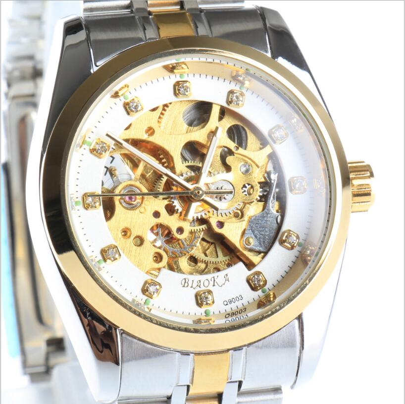BIAOKA brand Luminous Clock Men Automatic Mechanical Watch Skeleton Military Relogio Male Montre men Casual Clock<br><br>Aliexpress