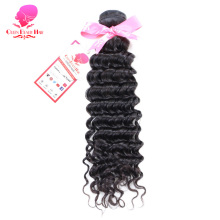 QUEEN BEAUTY HAIR Brazilian Virgin Hair Deep Wave 100% Unprocessed Human Hair Bundles Weave Natural Color Hair Weft