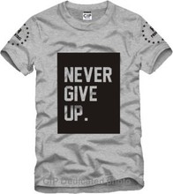 never give up Ice Bucket Challenge Jay Printed Mens Men T Shirt Camisetas Masculinas 2015 Manga Curta Camisa Masculina Tshirt