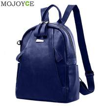 a1bc69dd60 PU Leather Backpacks Women Solid Zipper Mochila Escolar School Bags For  Teenagers Girls Travel Casual Shoulder