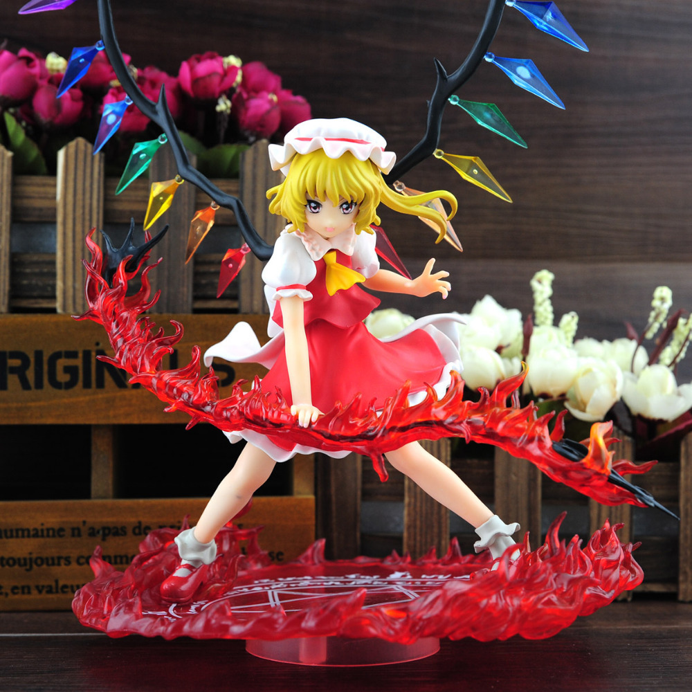 Free Shipping GRIFFON Touhou Project Flandre Scarlet Scarlet Sword Ver. PVC Action Figure Toy 23cm<br>