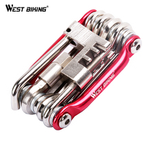 WEST BIKING Tire Tatch Wrench Repair Bicycle Cycling Maintenance Multifuncional Tools Sets Bike Multi Portable Ferramenta Kit
