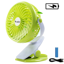 Yoosion USB Fan Silent 4 Blades Desk fan Mini Portable Air Cooling Ventilador USB Fans Rechargeable Battery Clip Stand Table