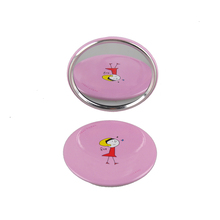 20Pcs Korea Pocket Mirror Makeup Fold Round Crystal Compact Mirror Portable Cute Cartoon For Personalized Wedding Gift Free Ship(China)