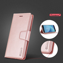 Hanman Leather Wallet Card Holder Cover Case For Samsung Galaxy j7 2017 J730 SM-J730F J7 Pro Mobile Phone Bags European version(China)