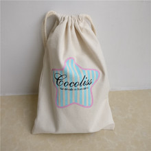 Wholesale 500pcs/lot custom printed company logo canvas cotton drawstring shopping Bags storage grocery tote gift pouch for ads