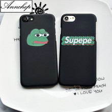 Annchep Popular Green Frog Pepe Hard Case For iphone 6s 6 Plus 5s SE Matte Cover For iphone 7 8 Plus X phone case Funda Coque(China)