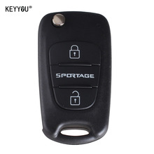 KEYYOU 3 Buttons Flip Folding Remote Key Shell Blank Case Replacement For Kia Sportage With LOGO + Free Shipping