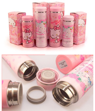 Retail Lovely Girl Cartoon Hello Kitty Stainless Steel Children's 6~12Hours 200ML Sport Travel Vacuum Flask Water Bottles