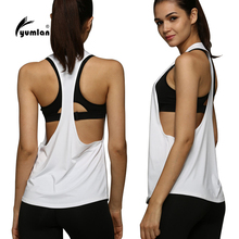 Low price Women Sports Shirt Breathable Sleeveless Sport Jersey Cool Loose Yoga Top Fitness Running Shirt Women Sport Top