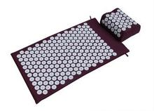 Acupressure Spike Yoga Pillow Mat Relieve Stress Pain Relief Acupuncture Cushion Neck Back Shakti Massager Body Relax(China)