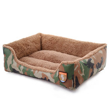 New 2017 Camouflage Kennel House Durable Bed Dog Nest Washable Warm Pet Beds Kennels For Cat Puppy Pet Accessories Free Shipping