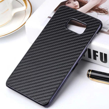 New for Galaxy S7 Edge Carbon Fiber Case Fashion Luxury Carbon Fiber Chrome Plated Hard Case for Samsung Galaxy S7 Edge S7 Plus(China)