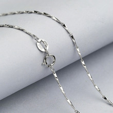 Wholesale Sterling Silver Fish Pattern Necklace Seed for Women Silver Melon Seeds Chain for Pendant Silver Jewelry 925 Necklace(China)