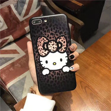 "Luxury PU Leather Print ""HELLO KITTY"" Mobile Phone Cases For Apple iPhone7 7Plus 6 6S 6Splus Phone Back Cover Coque Funda Cases"