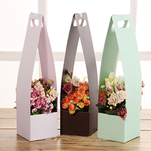 Portable Flower  Basket Folded Paper Flower Packaging Gift Box Wedding Home Decoration Carton Packing Waterproof Florist Packing