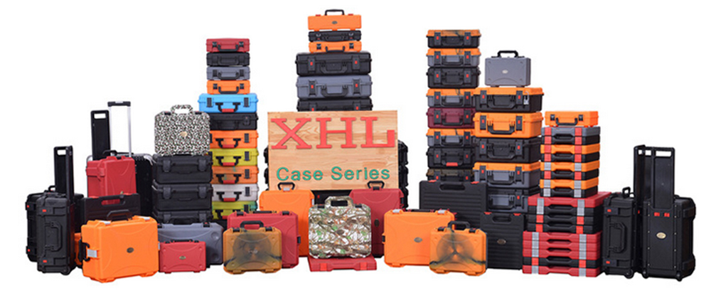 330*200*97MM ABS Tool case toolbox Impact resistant sealed waterproof equipment camera case with pre-cut foam <br>