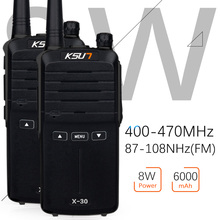 (2pcs) KSUN X-30 handheld walkie talkie portable radio 8W high power UHF Handheld Two Way Ham Radio Communicator HF Transceiver(China)