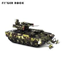 Finger Rock BMPT Terminator Tank 3D Metal Puzzles Cool Army Tank Model Assembly DIY Model Building Kits Educational Jigsaw Toys(China)