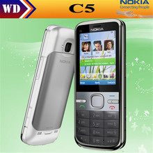 Original Phone Unlocked Nokia C5 C5-00 Cell phones GSM 3G 3Mp Camera FM GPS Bluetooth refurbished phone