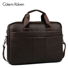 Promotion simple brand name business men briefcase bag luxury leather laptop bag men shoulder bag(China)