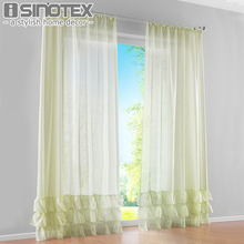 Window Curtain Solid Polyester Fabric Skirt Curtain Pleated Woven Home Decor For Children Room Living Room Custome Made