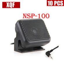 XQF 10PCS Mini External Speaker Microphone NSP-100 for Kenwood Yaesu ICOM Ham Radios(China)