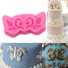 European Symmetrical Lace Cake Border Silicone Mold Fondant Cake Decorating Tools Chocolate Gumpaste Mould Cupcake Baking Moulds