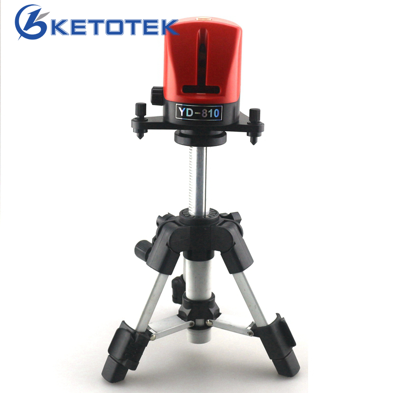 A8810 YD-810 Laser Level 360 Self-leveling 2 Line Cross Red Line Laser Level with AT280 Tripod Measuring Tools<br>