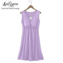 2017 Spring Autumn New Modal Cotton Nightgown With Bra Thin Bra Home Furnishing Sleepwear Nightwear Lady Girl Nightdress CU006(China)