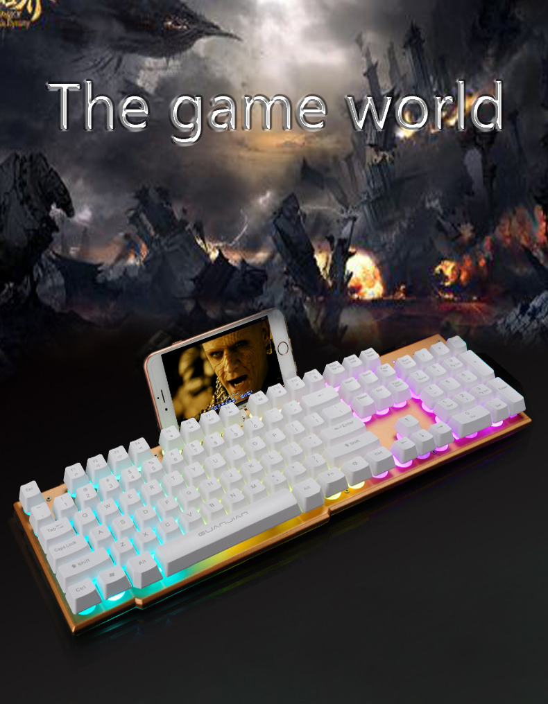 For K-05 Full Size Mechanical Gaming Keyboard Wired Ergonomic Virtual Keyboards RGB Backlight for PC Laptop<br>