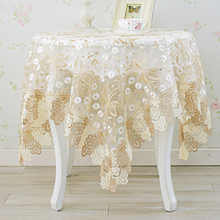 European round table cloth glass yarn fabric table cloth tablecloth table mats tablecloth table mat lace tablecloth(China)
