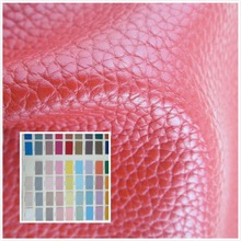 Litchi grain style 1.2mm faux leather fabric 89 color durable PU synthetic leather textile fabric for sofa bag belt shoes