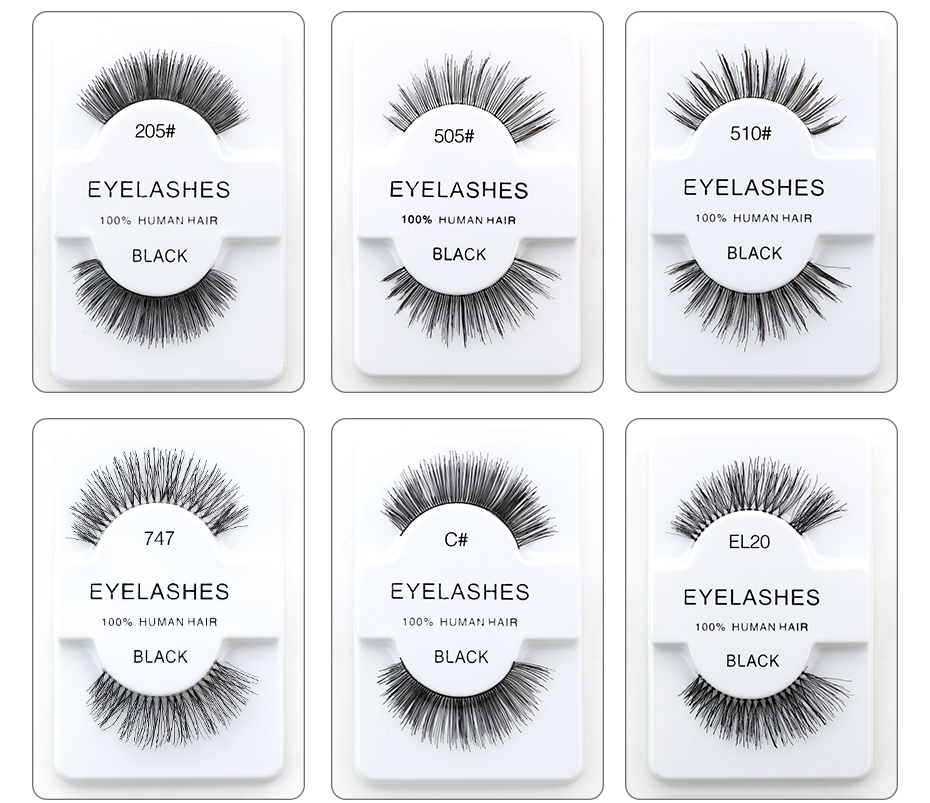 High quality human hair lash extensions promotion shop for high genailish natural false eyelashes 100 human hair eyelashes makeup fake eye lashes eyelash extension pmusecretfo Image collections